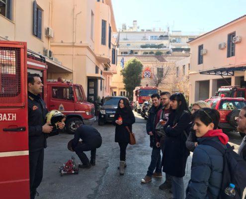 Επίσκεψη σπουδαστών στην πυροσβεστική